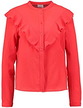 VERO MODA VMGRETA Damen Bluse Hemd Hemdbluse - poppy red GR. XL