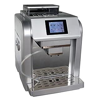 Acopino 331 One Touch Monza Kaffeevollautomat, farbiges Grafikdisplay, 2 L Wassertank, 300 g Bohnenbehälter, silber