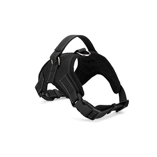 Pixnor Oxford Tuch Hundegeschirr für mittlere große Hund - Größe XL (schwarz)
