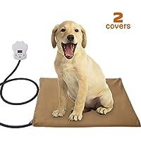 Qomolo Almohadilla de Calefacción para Mascotas para Cama para Perros/Gatos, Colchoneta de Calefacción Eléctrica de Baja Tensión para Mascotas con Control de Temperatura de 7 Grados(60 * 45)