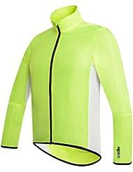 RH+ Wind Shell  AcidYelBla M Giacche Impermeabili (ciclismo - Uomo), Uomo, acid yellow-black, M