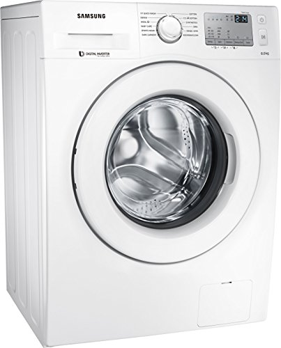 Samsung 8 kg Fully-Automatic Front Loading Washing Machine (WW80J4233KW/TL, White)