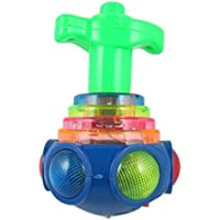 TOOGOO(R) Hot Minions Colorful Light & Music Gyro Peg-Top Spinning Tops Kids Children Toy