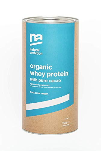 Organic whey protein with cacao (750g)