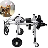 Dog wheelchair,Biciclette per animali domestici Best Friend-Dog Seggiolone per cani con rotelle, Sostegno per sedia a rotelle posteriore, Carrello regolabile in acciaio inox per animali domestici Cane