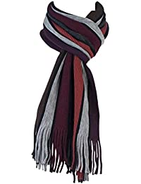 Mens Warm Knitted Luxury striped Winter scarf 8 Colours