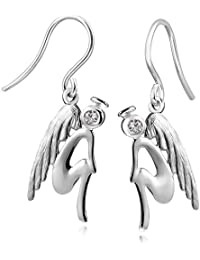 Earrings Silver 925 Jewelry Pegasus Materia - Horse with Wings Silver Earrings Ladies Jewelry Box Incl #SO-132 vN1Mvwy