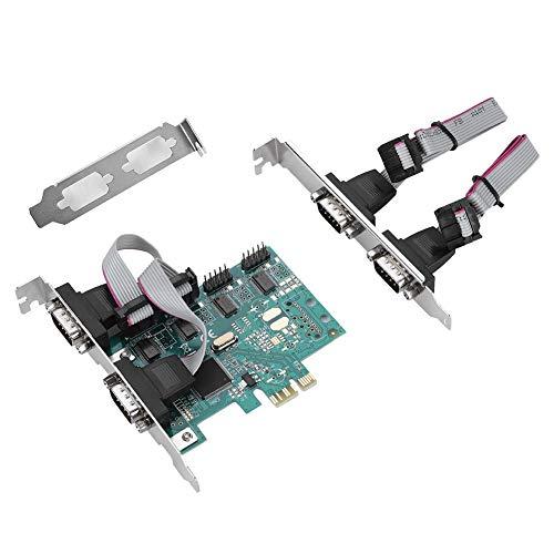 PCI-E Adapter, PCI-E auf RS232 4-Port Serial Port Konverter PCI Express Controller Adapter Erweiterungskarte