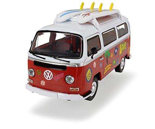 Dickie Toys 203776001 Surfer Van, Spielzeugvan mit Friktionsantrieb, 32cm, 1:14