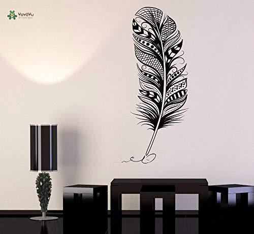 wukongsun Vinyl wandaufkleber vogelfeder Stift Exquisite Wohnzimmer Schlafzimmer Dekoration Aufkleber 75 cm X 165 cm -