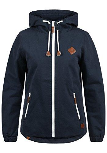 Blend SHE Bibi Damen Übergangsjacke Mantel Parka leichte Jacke mit Kapuze, Größe:S, Farbe:Navy (70230)