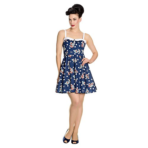 Hell Bunny Oceania Mini Kleid (Navy) Navy Blau