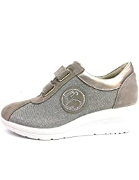 ENVAL SOFT 12655 Taupe Scarpa Donna Zeppa 50 Sneaker Pelle Made in Italy c088984ae2c