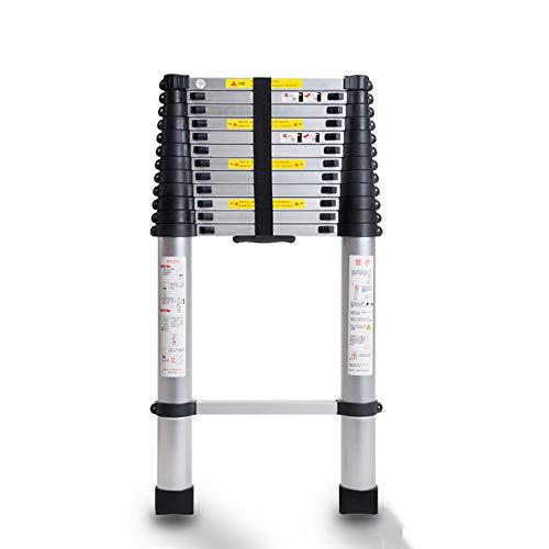 ZXWDIAN Echelle télescopique en alliage d'aluminium - échelle domestique échelle pliante grenier échelle en chevrons - échelle de levage Escabeau banc chaussure changement banc