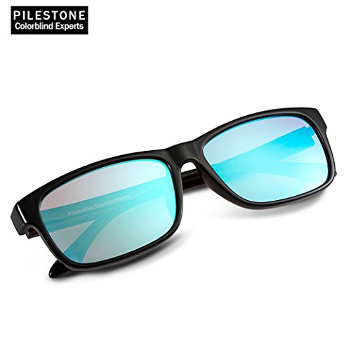 PILESTONE TP-024 farbenblinde gläser Color Blind Korrekturbrille für rote / grüne Farbenblindheit - Mildes, mäßiges und starkes Deutan und mildes, mäßiges Protan