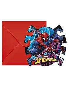 Procos Invitaciones con sobre Spiderman Team Up, Multicolor, 5pr89453