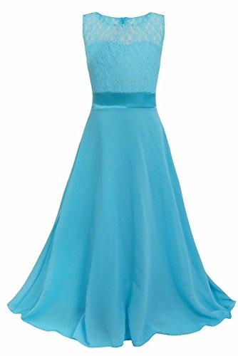 YiZYiF Festliches Mädchen Kleid Lange Brautjungfern Kleider Hochzeit Party Chiffon Festzug Gr. 104...