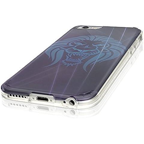 Tribal 10006, Cristallino Custodia Protettiva in Gel Silicone Caso Ultra Sottile Copertura con Disegno Strutturato per Apple iPhone 7 - Collezione Tribal