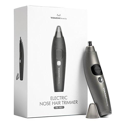 Nasenhaartrimmer, Haarschneider zum Trimmen von Nasen und Ohrenhaaren und Augenbrauen mit Batteriebetrieb und LCD-Bildschirm