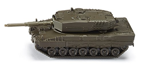 SIKU 0870, Panzer, Metall/Kunststoff, Dunkelgrün, Drehbarer Geschützturm -