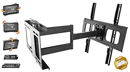 RICOO Fernsehhalterung Schwenkbar Neigbar S2544 Fernseher Wandhalterung TV Halterung Curved Fernseh Wandhalter Flatscreen LED LCD 4K Schwenkarm Moebel VESA | 200 | 400 | Flachbildschirm: 30 32 34 40 42 43 45 55 Zoll - 2