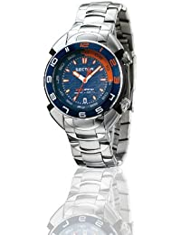 Sector Men's Watch R3253178035 In Collection Shark Master, 3 H and S with 44mm Blue Dial and Stainless Steel Bracelet