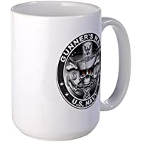 CafePress - USN Gunners Mate GM Skull Don Large Mug - Coffee Mug, Large 15 oz. White Coffee Cup by