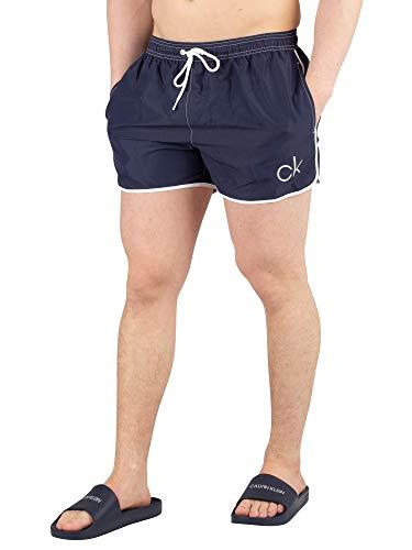 Calvin Klein Herren Short Runner Schwimmshorts, Blau, Medium