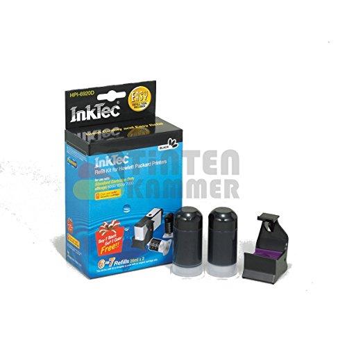 InkTec Nachfüllpack für Tintenpatronen HP 301 und 301XL, Schwarz, hochpigmentiert, 20ml, 2 Stück (Toner-refill-werkzeug)