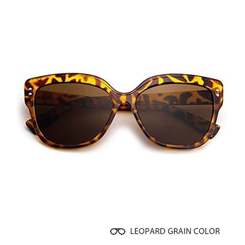 Aprigy - Katzenaugen-Sonnenbrille Frauen Retro Eyebrows Weibliche Sonnenbrillen Mann Feminino [Leopard-Korn]