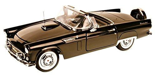 Ford Thunderbird Cabrio Schwarz 1. Generation Classic Birds 1955-1957 1/18 Motormax Modell Auto