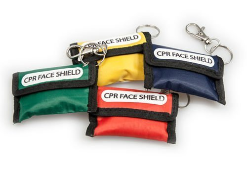 by MEDI POUCH CPR FACE SHIELD KEY RING POUCH WITH CPR INSTRUCTIONS