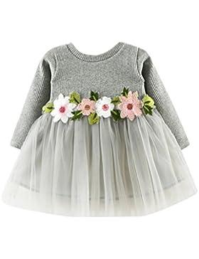 [Sponsorizzato]Vestito dalla principessa del manicotto lungo Tutu floreale della neonata sveglia del bambino Rawdah