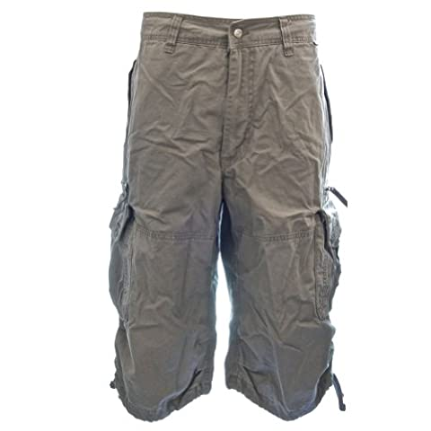 Mens Knee Hugger Cargo Shorts 45056 - 100% Cotton Premium