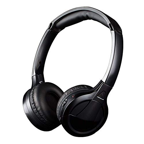 Kabelloser Funkkopfhörer [ Null Latenz], Jelly Comb Drahtloser HF-Stereo On Ear Headset für Fernseher, Smart TV, Computer, HiFi usw, Schwarz