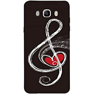 Casotec Love Note Music Design 3D Printed Hard Back Case Cover for Samsung Galaxy J7 (2016)