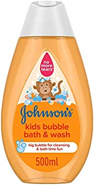JOHNSON'S Toddler & Kids Bubble Bath & Wash, Gentle Formula Free of Parabens &