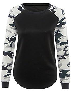 LHWY Las Mujeres De Largo Manga Camiseta Blusa Casual Tops T Shirt