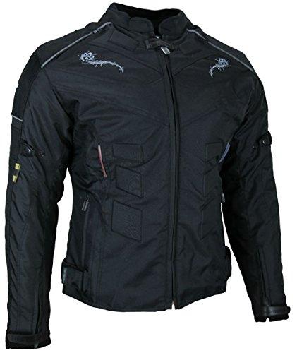 *Heyberry Damen Motorrad Jacke Motorradjacke Textil Schwarz Gr. XL / 42*