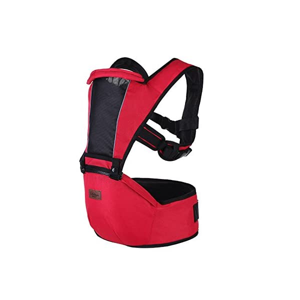 SONARIN 2018 Premium Hipseat Baby Carrier, Front,Horizontal, Multifunctional, Ergonomic,6 Carrying Positions,Safe and Comfortable,Adapted to Your Child's Growing,Ideal Gift(Red) SONARIN Applicable age and Weight?0-36 months of baby, the maximum load: 25KG, and adjustable the waist size can be up to 43.3 inches (about 110cm). Material:designers choose soft Oxford cloth, soft color, good ventilation, strong endurance, no irritation to the baby's skin,to the baby comfortable and enjoyable. Description: patented design of the auxiliary spine micro-C structure and leg opening design, natural M-type sitting. Widen the shoulder strap and belt will be effective to disperse the baby's weight to the shoulder and waist, so that mother more effort. EPP seat core, no deformation, baby sitting more comfortable. 2