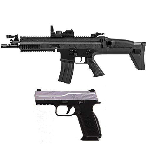 Airsoft-Pack Duo-Gewehr und Pistole FN Electric Scar und FNS-9 Spring (0,5 Joule) + 500 Bälle (Feder Airsoft-gewehr-pistole)