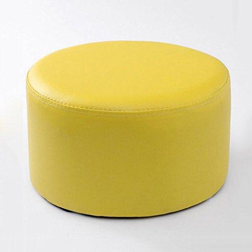 Rollsnownow Tabouret marron clair tabouret en cuir pour enfants maison tabouret canapé changer ses chaussures tabouret (27 * 27 * 15cm)