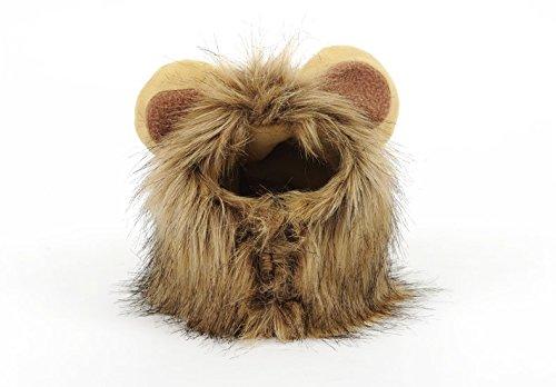 GUKVDS Haustier-Kleidung, Löwe-Mähnen-Perücke Für Hundekatze Halloween Kleiden Oben Mit Ohr-Haustier-Kleidung An -