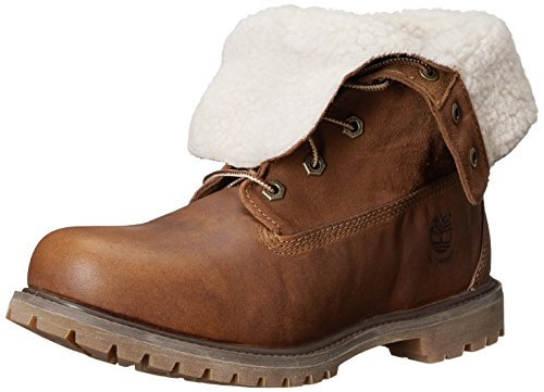 Timberland  Authentics FTW_Authentics Teddy Fleece WP Fold Down, bottines classiques femme Marron - Braun (Tobacco Forty)
