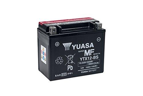 Preisvergleich Produktbild YUASA YTX12-BS Powersports AGM Motorrad Batterie, wartungsfrei (Preis inkl. EUR 7,50 Pfand)