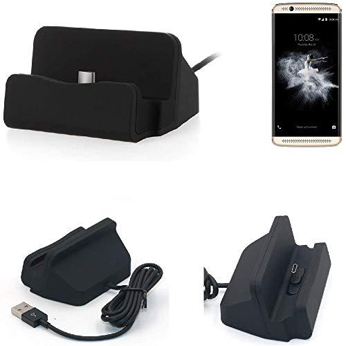 K-S-Trade Dock USB ZTE Axon 7 Mini, Negro