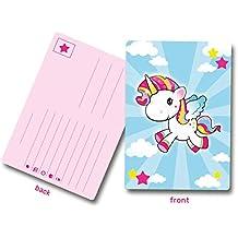 8 Invitaciones de cumpleaños unicornio / Aprox. 10 x 14 cm / Fantásticas tarjetas de