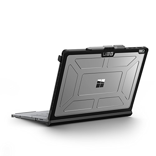 Base Cover (Urban Armor Gear Hardcase für Microsoft Surface Book mit Performance Base - transparent [Microsoft zertifiziert | Lüftungsschlitzaussparungen | Pen Halterung | Stoßfest] - SBPB-L-IC)