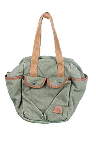 whillas & Gunn Carry Bag borsa di cotone, Adulti (unisex), verde, Taglia unica verde