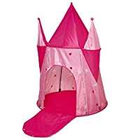Vinsani® Childrens Girls Princess Pink Castle Pop-up Indoor Outdoor Play Tent Fun Playhouse
